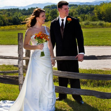 Bride And Groom On The Fence – LacossDesigns.com