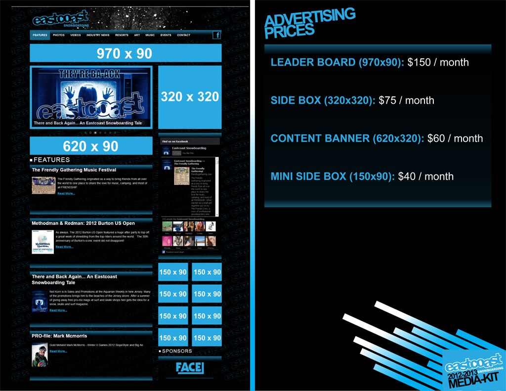 Eastcoast Snowboarding Media Kit Page 3 - LacossDesigns.com