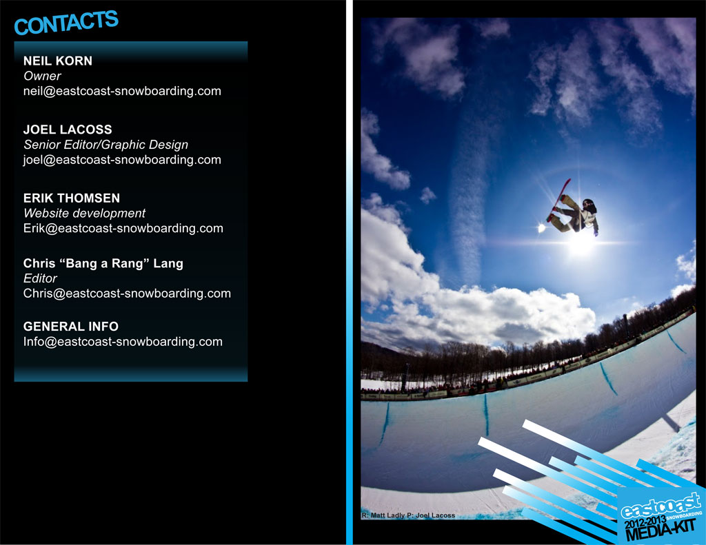 Eastcoast Snowboarding Media Kit Page 4 - LacossDesigns.com