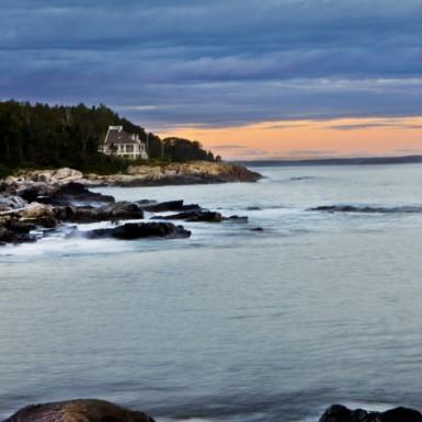 Spar Cove Sunset Peaks Island Maine - LacossDesigns.com