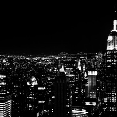 New York City Scape Black & White - LacossDesigns.com