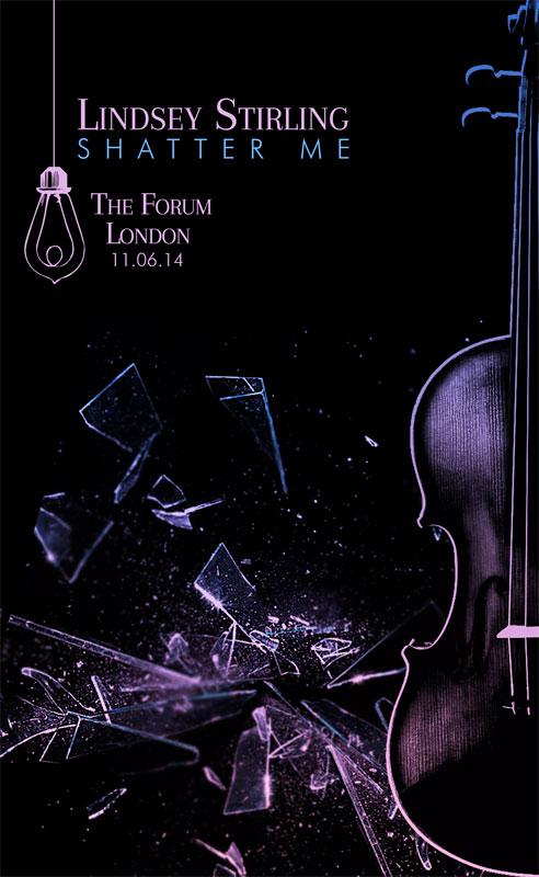 """Lindsey Stirling """"Shatter Me"""" Poster - LacossDesigns.com"""