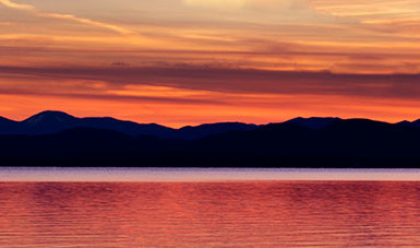 Champlain Sunset - LacossDesigns.com