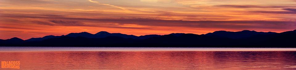 Champlain Sunset - LacossDesigns.com