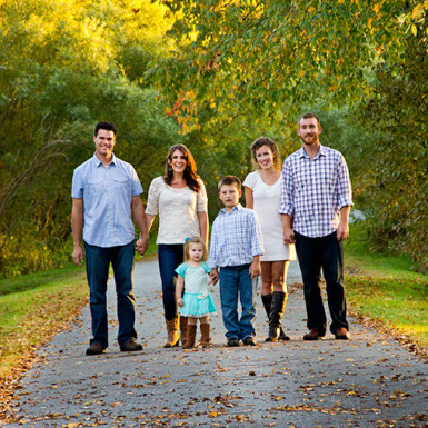 Family In The Fall - LacossDesigns.com